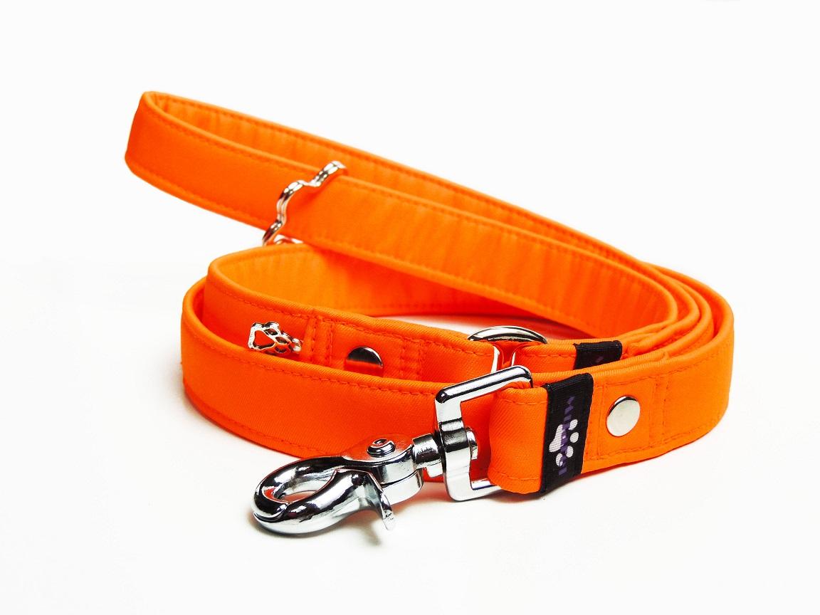 Klasické vodítko softshell Neon oranžová
